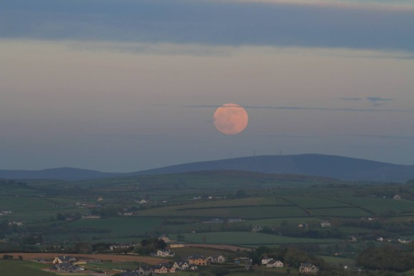 May 24, 2013 supermoon from Daragh McDonough in Letterkenny, County Donegal, Ireland.
