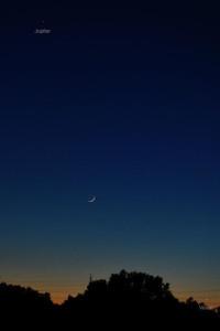 Moon, Jupiter and Venus on May 11, 2013