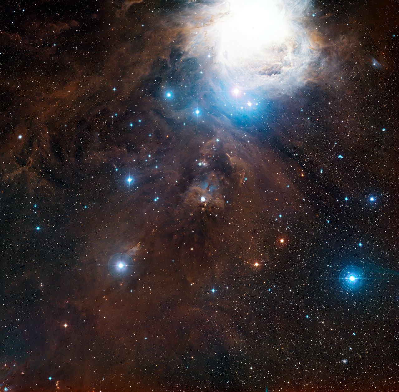 Orion's hidden fiery ribbon