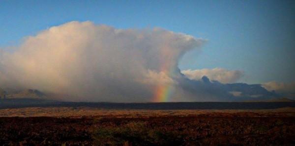 A rainbow in a wave shaped cloud, Big Island of Hawai'i. Photo: Imaginscape Photography?