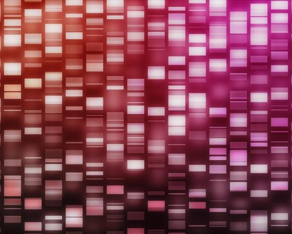 Red and pink DNA strands. Image credit: Shutterstock / wavebreakmedia