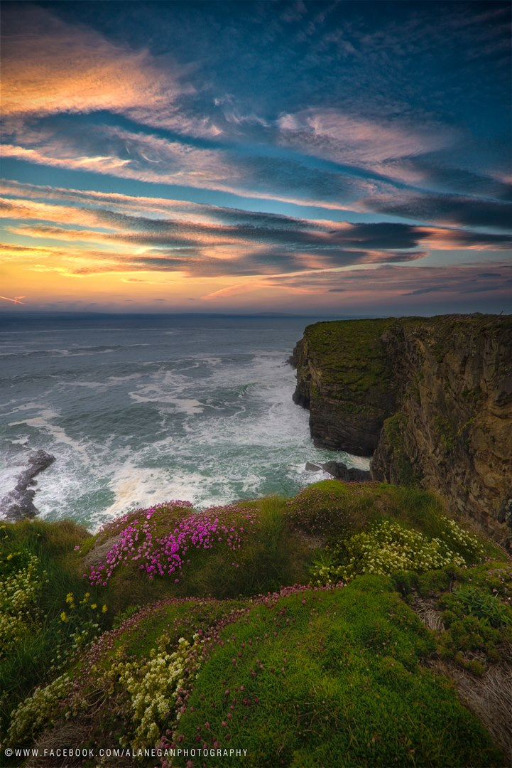 VIEW LARGER   A painterly sunset along Ireland's Kerry coast from EarthSky Facebook friend Alan Egan.