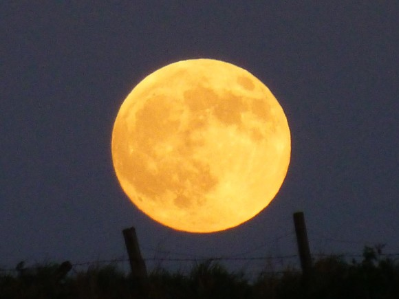 Supermoon on May 24, 2013 as seen by Michelle Connelly in Ferrden, Scotland.