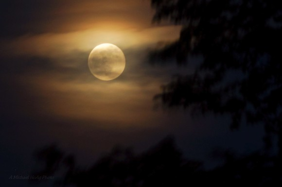 May 24 supermoon over Kansas from Mike Hoag.