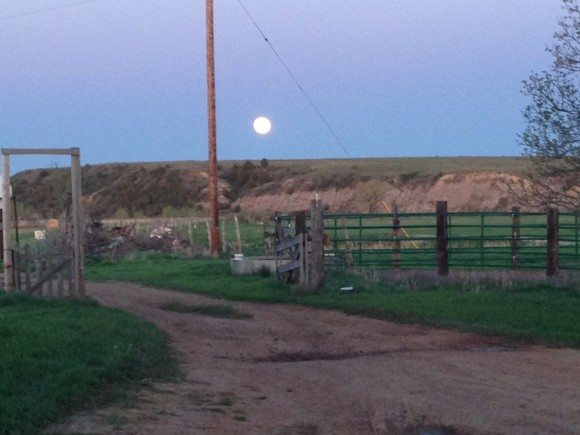 May 24 supermoon over North Dakota Badlands from Nikki Brown.