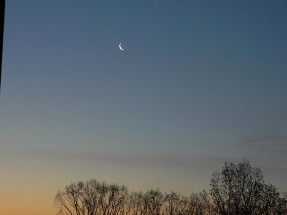 Reza Sadreddin of Toronto, Canada, caught the thin waning crescent moon at 5:30 a.m. on May 6, 2013. Thank you for the photo, Reza! It'll be even a thinner lunar crescent that greets sky watcher before sunrise May 7. See more moon photos on our Facebook page!