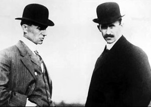 Wilbur and Orville Wright.