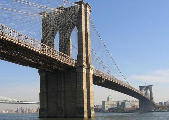 Brooklyn Bridge, seen from Manhattan, via Wiki Commons