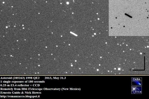 Asteroid 1998 QE 2 as captured by Remanzacco Observatory