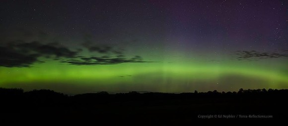 Northern lights seen early this morning (June 7, 2013) in Bliss, Michigan by EarthSky Facebook friend Ed Nephler.