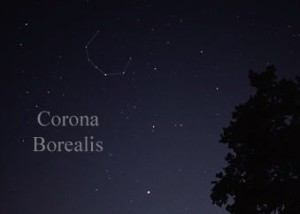 Alphecca: brightest in C-shaped Corona Borealis.