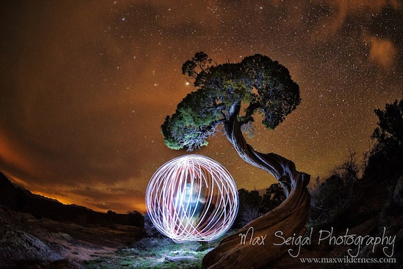 Conjuring a sphere of light