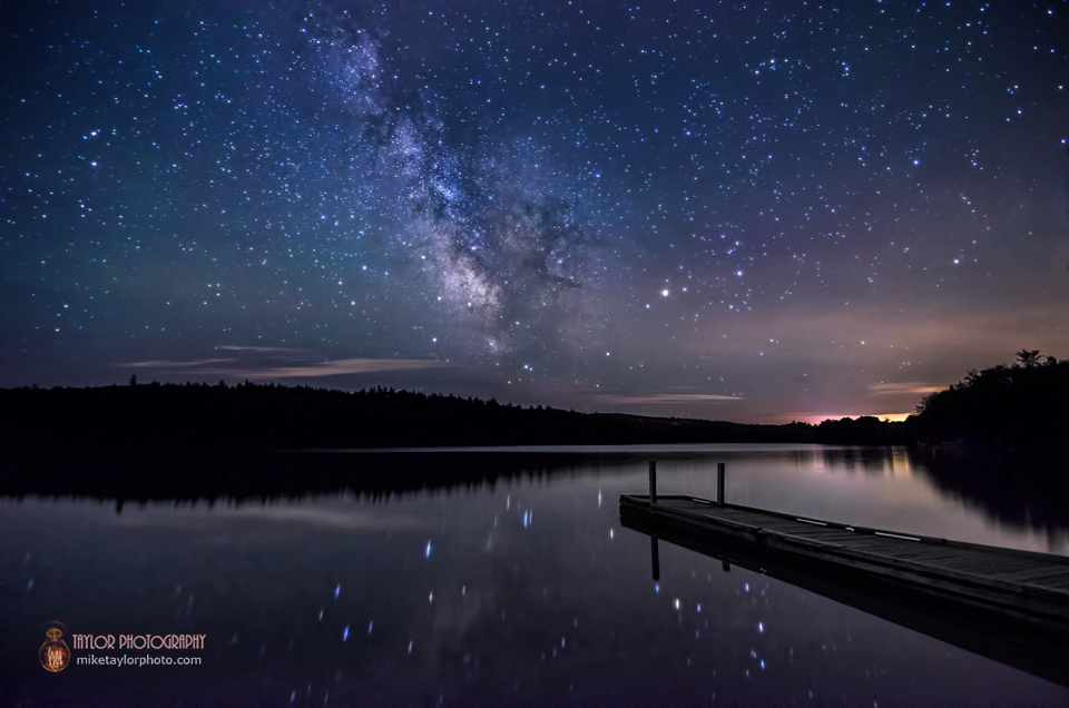 Milky Way over Lake St. George via Mike Taylor
