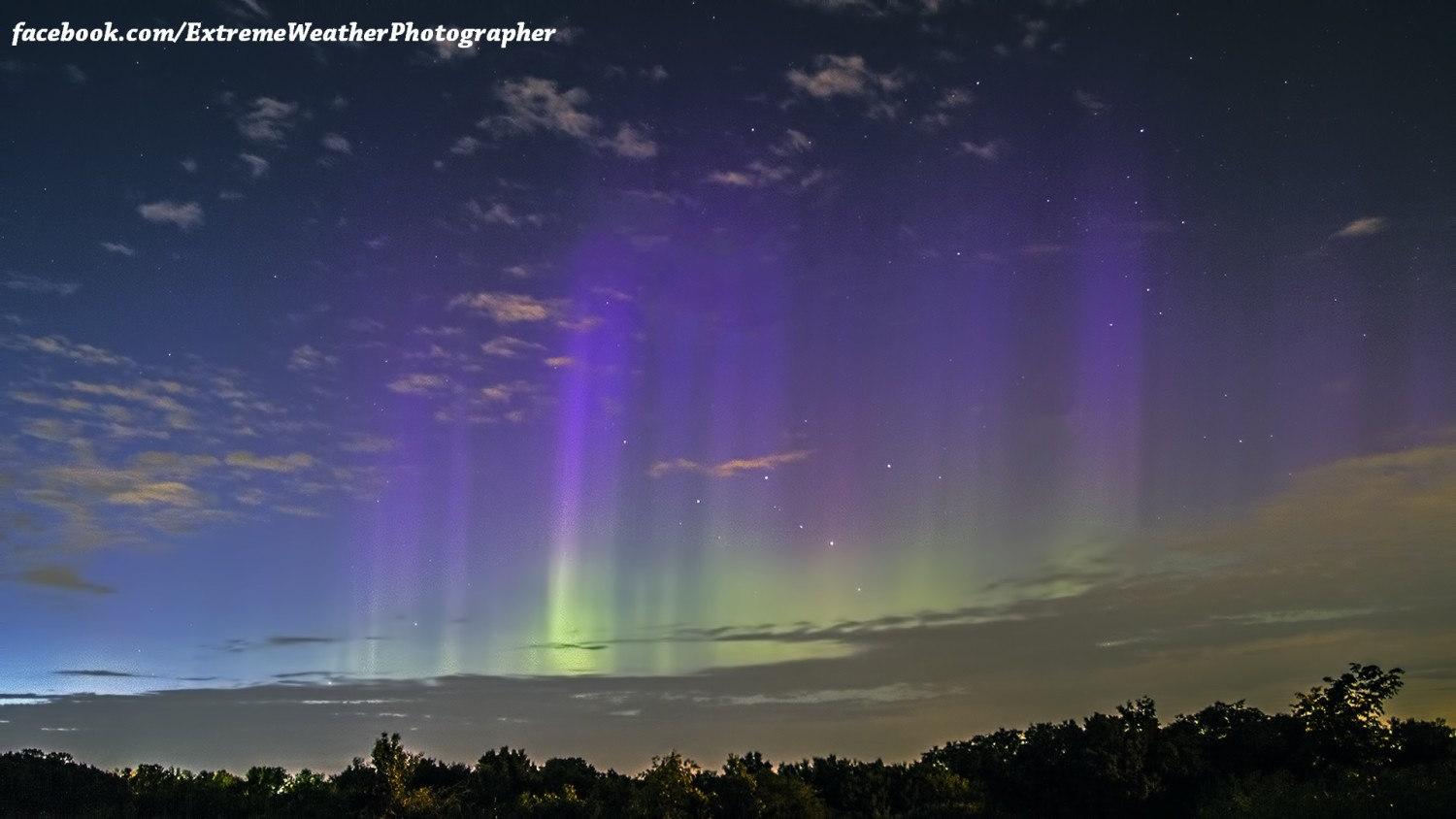 View larger. | Aurora borealis or northern lights seen over Wisconsin on June 6, 2013, as captured by Jeremy Friebel.