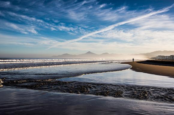 The Pacific Ocean a La Serena, Chile