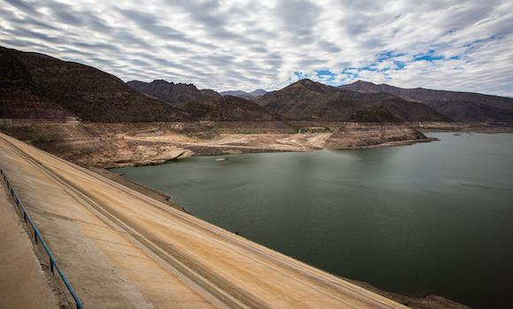Elqui River's Puclaro Dam
