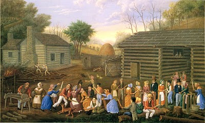 Linton Park (American painter, 1826-1906) Flax Scutching Bee 1885