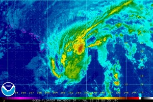 Flossie July 29, 2013 via NOAA