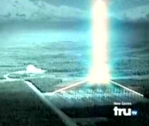 Prison Planet discussed HAARP and weather modification in its forum on June 7, 2010. That's when someone published this photo, from TruTV, purportedly showing HAARP's awesome power. Image via PrisonPlanet.