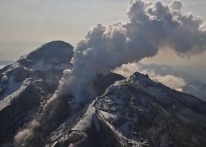 Redoubt Volcano on May 8, 2009 via Alaska Volcano Observatory.