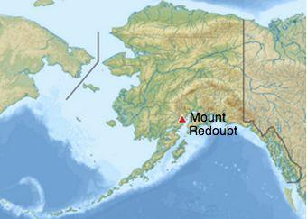 Mount Redoubt is in Alaska's highly volcanic Aleutian Range.
