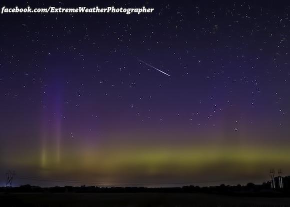 An aurora, and the start of meteor season