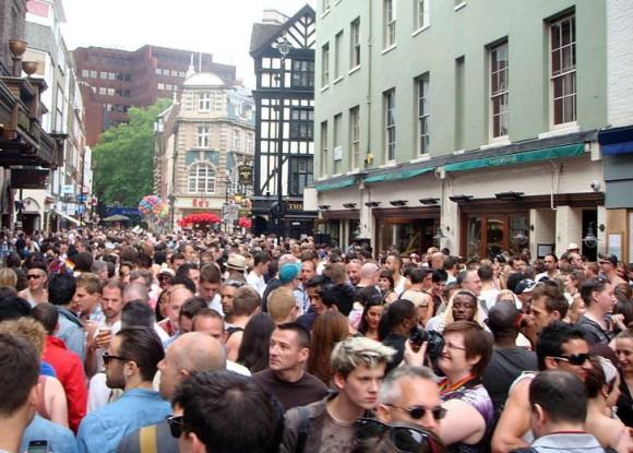London street in 2011, via Wikimedia Commons