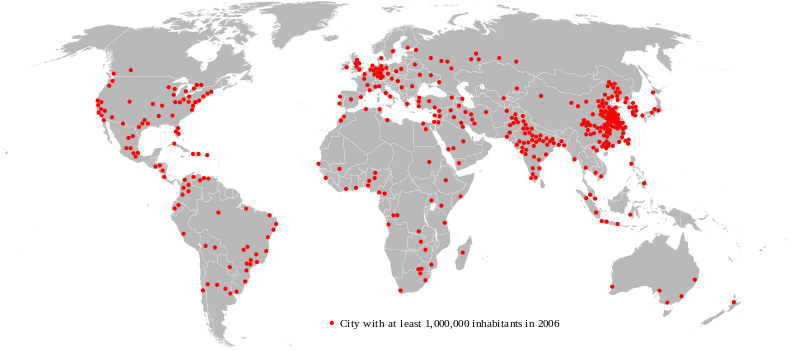 View larger.   This map shows the global distribution of top 400