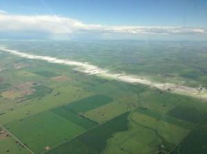 Canada hail swath July 6 via Twitter @NWSGaylord