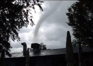 July 29, 2013 tornado in Italy.  Video still via Boly Krizsi.