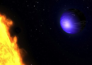 Artist's concept of planet HD 189733.