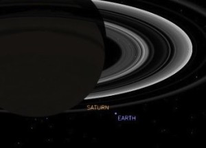 Simulated Earth from Saturn July 19, 2013, via NASA