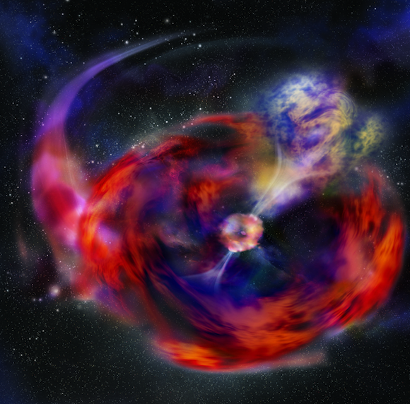 Flashes in the sky: Cosmic radio bursts point to cataclysmic origins in the distant universe