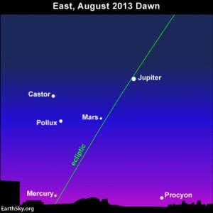Moon, Venus, Perseid meteor shower radiant point 13aug09_430txt21-300x300