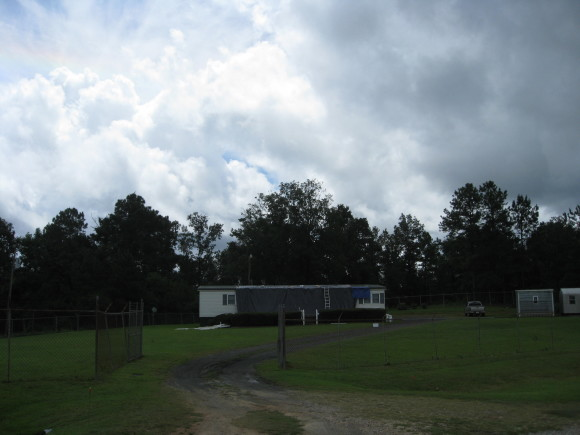 Tornado damage to a mobile home in Heard County Georgia. Image Credit: NWS Peachtree City