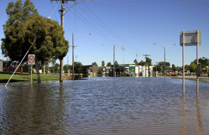 Flooding in Horsham, Australia in 2011. Image Credit: Flickr/Wimmera