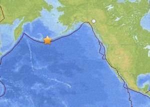 7.0-magnitude earthquake in Aleutian Islands August 30, 2013