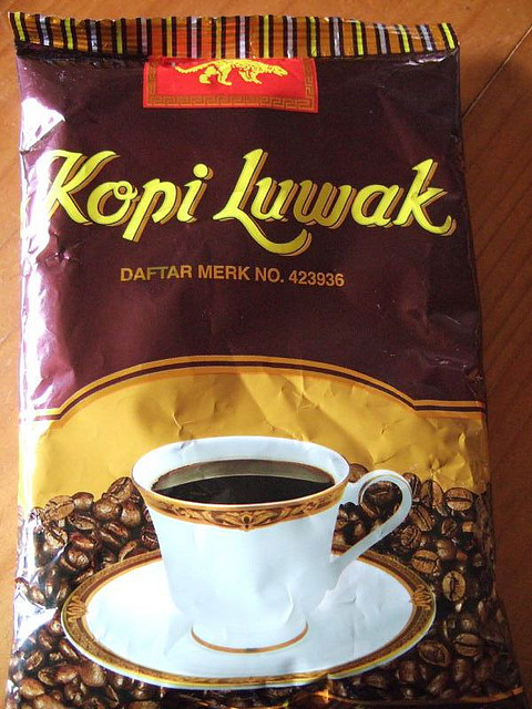 Kopi luwak is so expensive that it's sold in small packages for people who wish to sample it. I found a similar-sized package, just 2 oz., online for $50. The seller advertised it as originating from wild, not captive, civets. Image credit: teaandcakes via flickr.com.