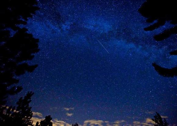 Aurigid meteor seen August 29, 2013 at Poudre Canyon, Colorado by EarthSky Facebook friend Debbie Adams. Thank you, Debbie!