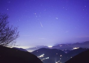 Meteor, or shooting star, via NASA