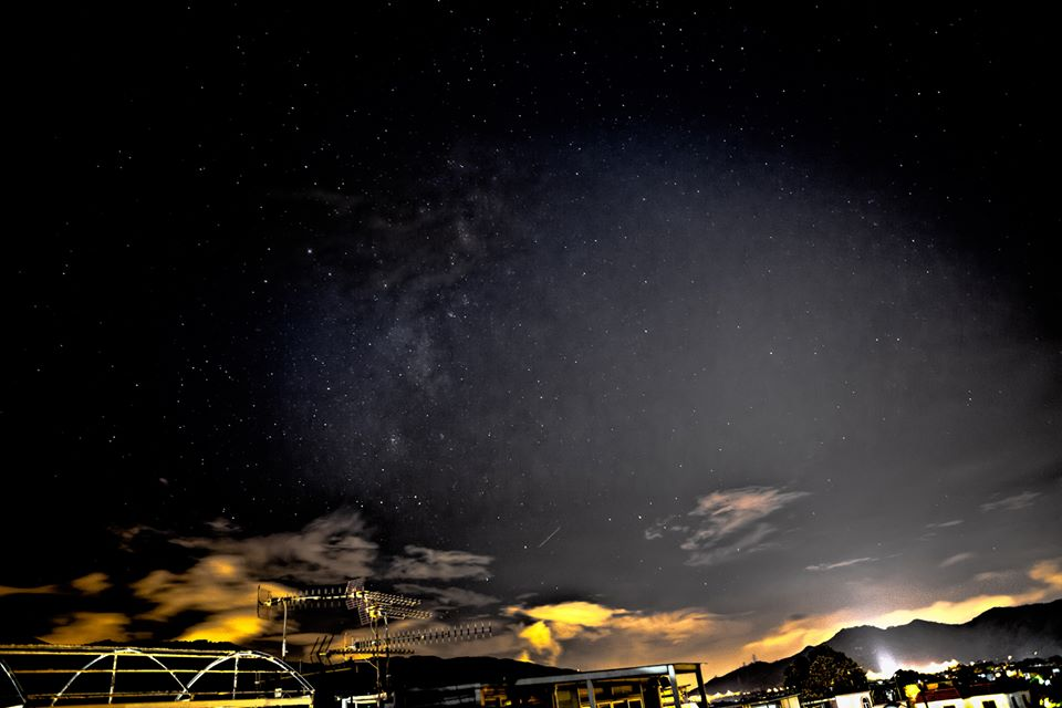 Kins Cheung in Hong Kong captured this Perseid meteor on August 12, 2013.  Thank you, Kins!