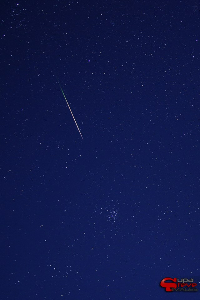 Steve Beatty said this was the last Perseid he captured before the sun came up on the morning of August 12.