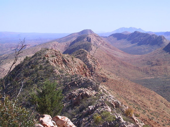 Life in the Outback: The MacDonnell Ranges in the Northern Territory are found in the center of Australia. Image Credit: Wikipedia