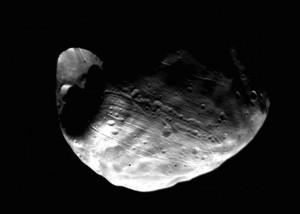 Phobos, via Viking 1.  Image Credit:  NASA