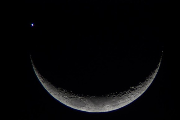 Near occultation. Santa Maria, Rio Grande do Sul, Brazil.  Photo credit: Crístian-Rubert.