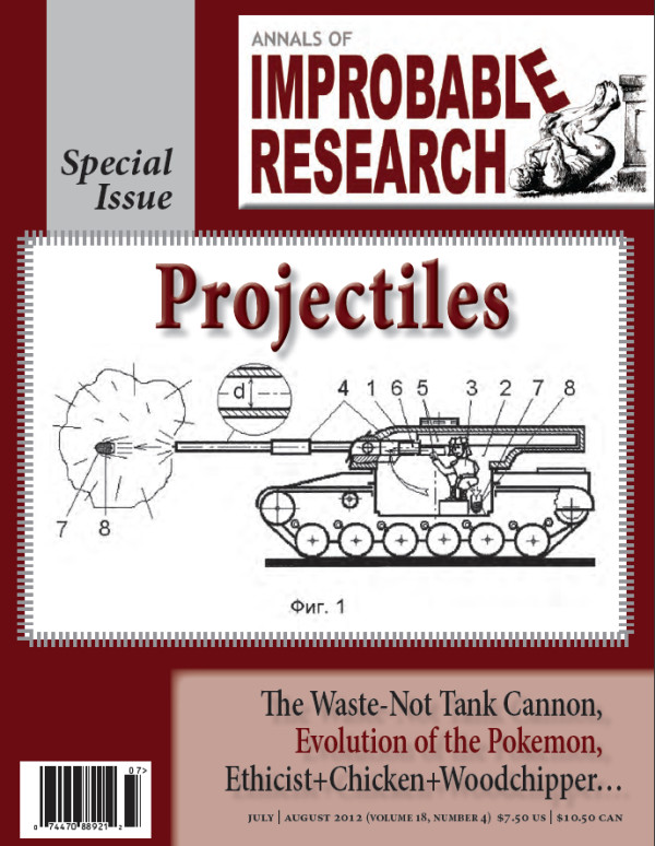 Cover of a past issue of Annals of Improbable Research. Image credit: Improbable Research Inc.