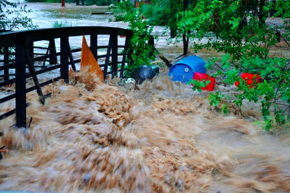 Colorado flooding by Nina Embervine in Lyons, Colorado.