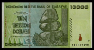 The Ig Nobel award included a cash prize of ten trillion dollars, in Zimbabwean currency. Don't bother looking up the exchange rate. Zimbabwean notes are no longer in use. Image via Improbable Research Inc.