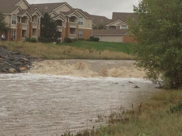 Flooding near Superior, Colorado on September 12, 2013. Image Credit: Kelly Keene