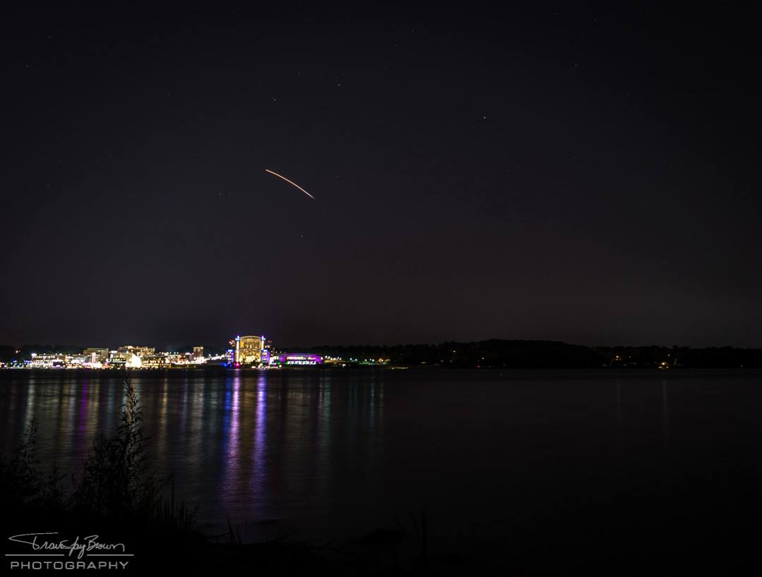 LADEE launch as seen over the National Harbor in Maryland by our friend Travis Jay Brown. Thanks, Travis!